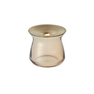 LUNA GLASS VASE SMALL - BROWN (3-7일 소요)