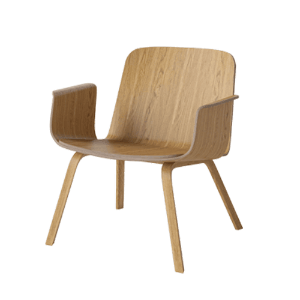 PALM VENEER LOUNGE CHAIR - OILED OAK