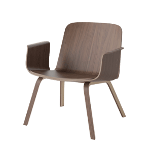 PALM VENEER LOUNGE CHAIR - OILED WALNUT