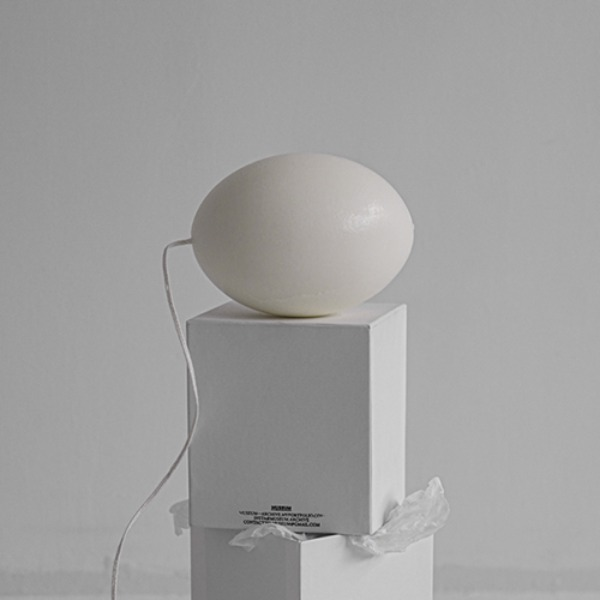 OSTRICH EGG CANDLE - WHITE (11월 입고)
