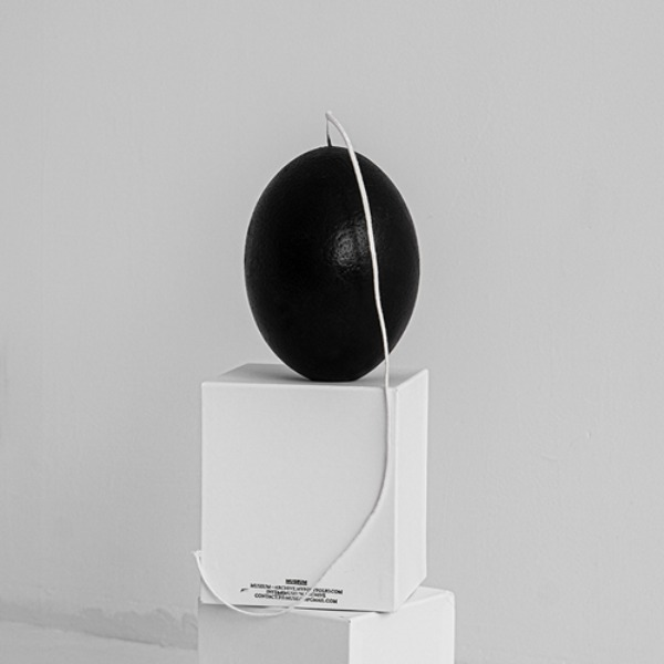 OSTRICH EGG CANDLE - BLACK (11월 입고)
