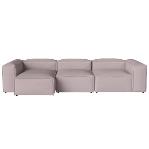 COSIMA 3 UNITS WITH CHAISE LONGUE LEFT LINEA - ROSA (재고문의)