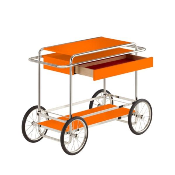 M4RS CONSOLE TROLLEY WITH DRAWER - ORANGE
