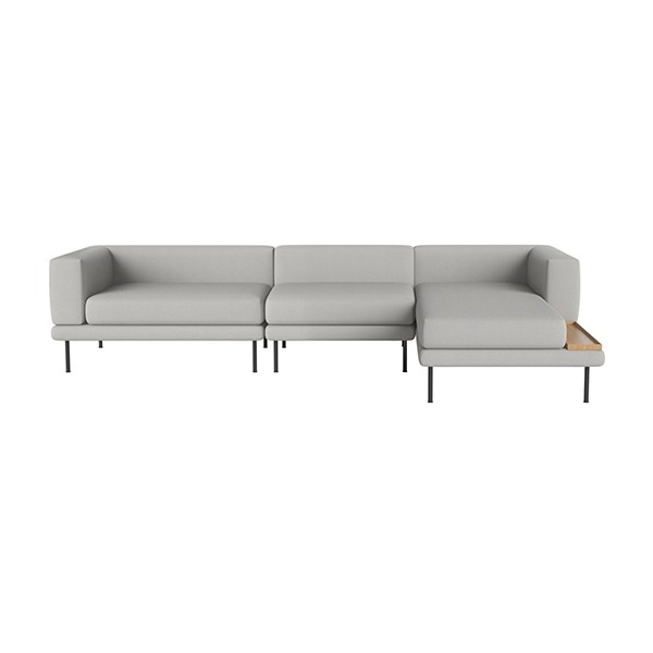 JEROME 3 SMALL UNITS WITH CHAISE LONGUE TO THE LEFT OR RIGHT - ASCOT / LIGHT GREY