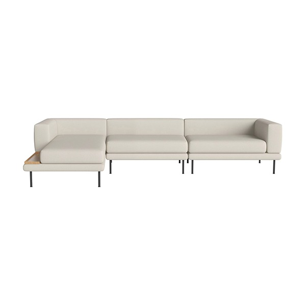 JEROME 3 LARGE UNITS WITH CHAISE LONGUE TO THE LEFT OR RIGHT - ASCOT / BEIGE