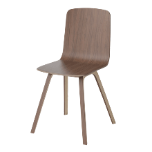 PALM VENEER DINING CHAIR - OILED WALNUT