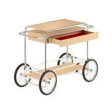 M4RS CONSOLE TROLLEY WITH DRAWER - BEIGE