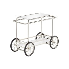 M4R CONSOLE TROLLEY - WHITE (WITH BOTTLE HOLDER)