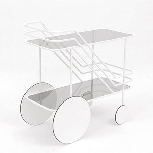 COME AS YOU ARE BAR CART - WHITE