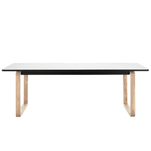 DT20 DINING TABLE - WHITE TOP / LACQUERED OAK LEGS (해외오더)