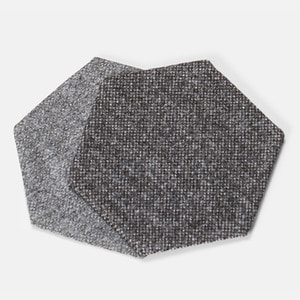 POLYGON COASTER HEXAGON - GREY / BLACK