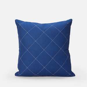 BLUE SQUARED CUSHION