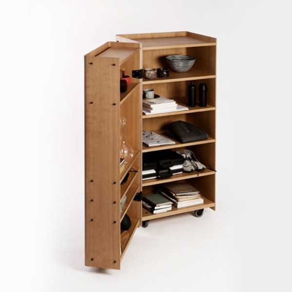 Knud Holscher Roller Cabinet - Wood
