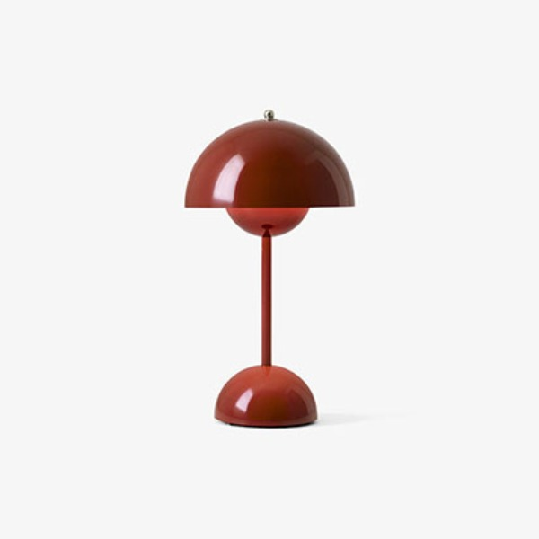 FLOWERPOT VP9 PORTABLE LAMP - RED BROWN