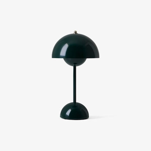 FLOWERPOT VP9 PORTABLE LAMP - DARK GREEN