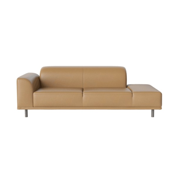 HANNAH 2 1/2 SEATER SOFA WITH OPEN END RIGHT - QUATTRO LEATHER / NOUGAT (디스플레이 상품)