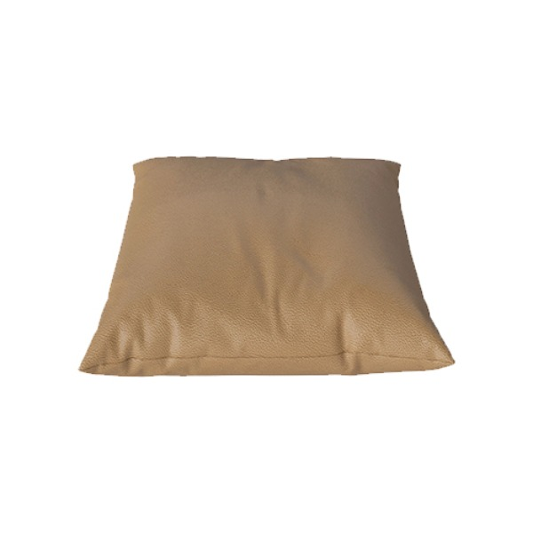 CLASSIC CUSHION 40X40 QUATTRO TRACEBLE LEATHER - NOUGAT