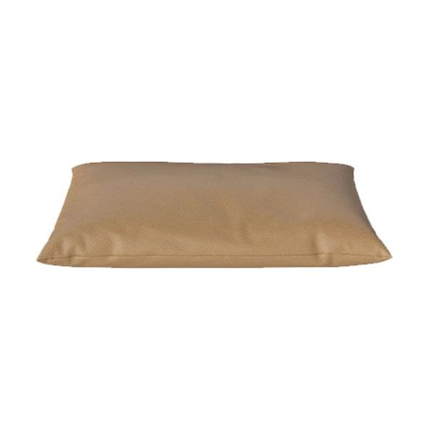 CLASSIC CUSHION 40X70 QUATTRO TRACEBLE LEATHER - NOUGAT