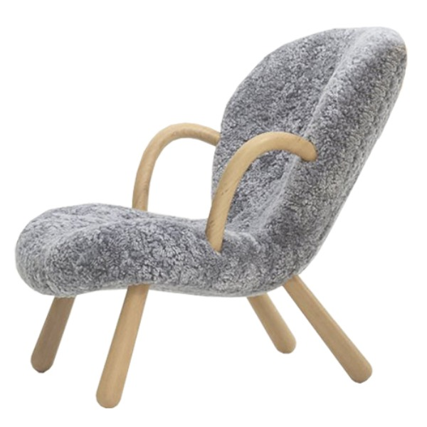 ARCTANDER CHAIR WITH ARM REST- SHEEP SKIN / GRAPHITE