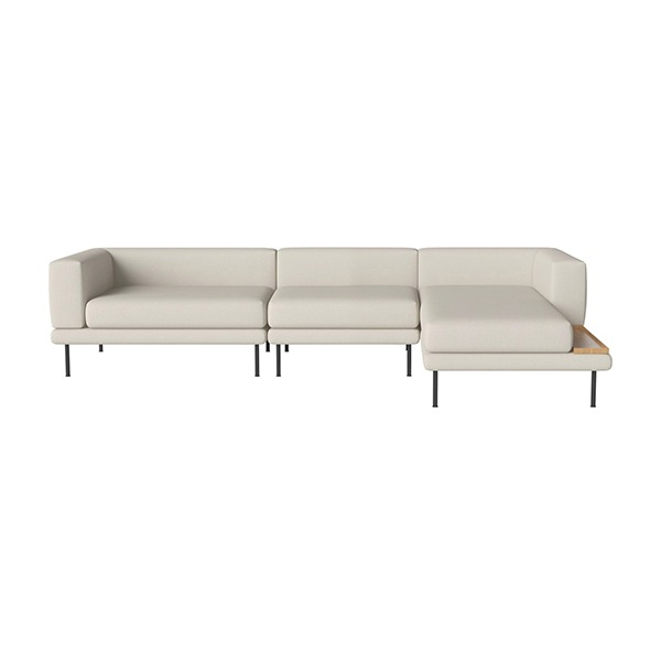 JEROME 3 SMALL UNITS WITH CHAISE LONGUE TO THE LEFT OR RIGHT - ASCOT / BEIGE