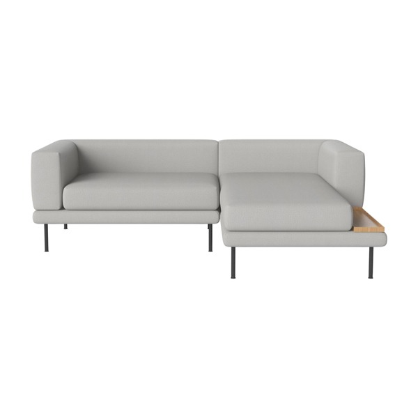 JEROME 2 UNITS WITH CHAISE LONGUE TO THE LEFT OR RIGHT - ASCOT / LIGHT GREY