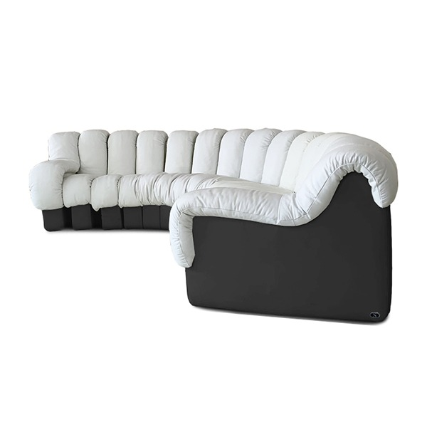 DS-600 SOFA - SNOW & BLACK