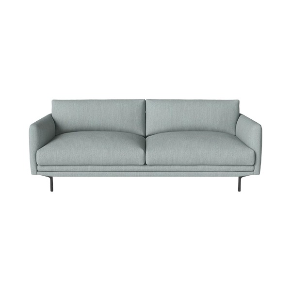LOMI 2 1/2 SEATER SOFA BAIZE - DUST GREEN