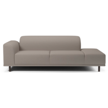 HANNAH 2 1/2 SEATER SOFA WITH OPEN END RIGHT LONDON - GREY BROWN