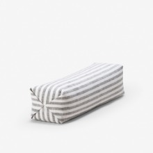 6mm STRIPED NECK PILLOW - WHITE & GREY