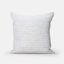 6MM STRIPED CUSHION WHITE&GREY