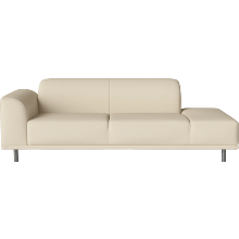 HANNAH 2 1/2 SEATER SOFA (LEATHER, 6 COLORS)