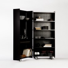 Knud Holscher Roller Cabinet - Wood (Black)