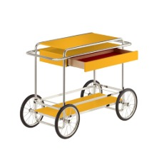 M4RS CONSOLE TROLLEY WITH DRAWER - YELLOW