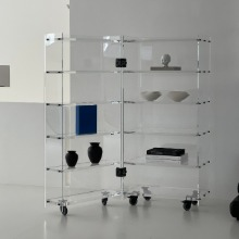 Knud Holscher Roller Cabinet - Plexiglass (Shelves in left and right side)